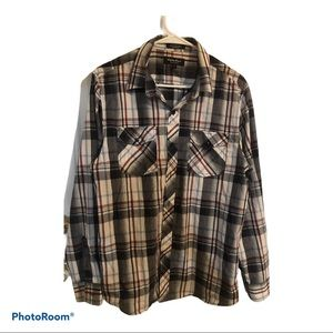 Eighty eight plaid button up men's shirt
